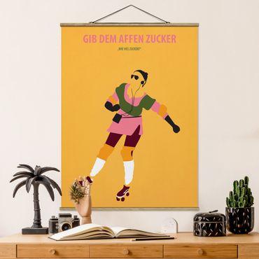 Foto su tessuto da parete con bastone - Poster di film Dare Le Scimmie Zucchero - Verticale 4:3