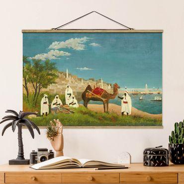Foto su tessuto da parete con bastone - Henri Rousseau - Paesaggio di Algeri - Orizzontale 2:3
