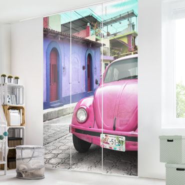 Tende scorrevoli set - Pink VW Beetle