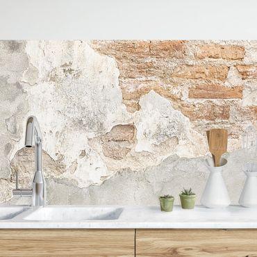 Rivestimento cucina - Effetto parete shabby