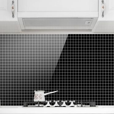 Paraschizzi in vetro - Mosaic Tiles Black Matt