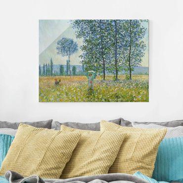 Quadro in vetro - Claude Monet - campo in primavera - Orizzontale 3:4