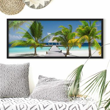 Poster con cornice - Passerella A Paradise - Panorama formato orizzontale