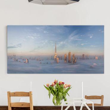 Stampa su tela - Dubai Sopra Le Nuvole - Orizzontale 2:1