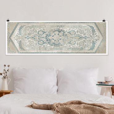 Poster - Comitato di legno d'epoca persiana IV - Panorama formato orizzontale