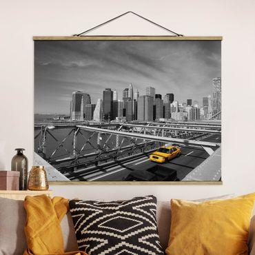 Foto su tessuto da parete con bastone - Taxi Trip To The Other Side - Orizzontale 3:4