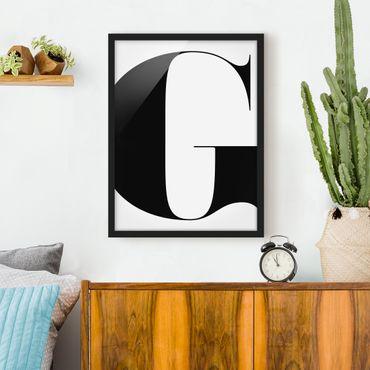Poster con cornice - Antiqua Letter G - Verticale 4:3