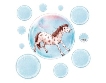Adesivo murale Soap Bubble Pony Sticker Set