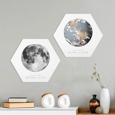 Esagono in forex - Luna e la Terra