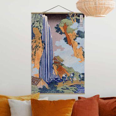 Foto su tessuto da parete con bastone - Katsushika Hokusai - Ono Cascata - Verticale 3:2