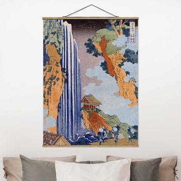 Foto su tessuto da parete con bastone - Katsushika Hokusai - Ono Cascata - Verticale 4:3