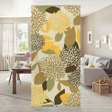 Tenda a pannello Vintage Flowers 250x120cm