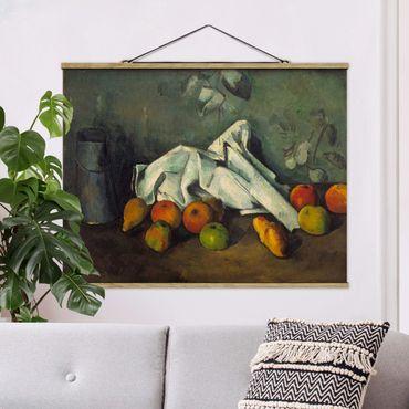 Foto su tessuto da parete con bastone - Paul Cézanne - Latte Can E Apple - Orizzontale 3:4