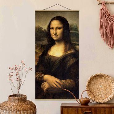 Foto su tessuto da parete con bastone - Leonardo Da Vinci - Monna Lisa - Verticale 2:1