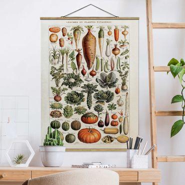 Foto su tessuto da parete con bastone - Consiglio Vintage Verdure - Verticale 4:3