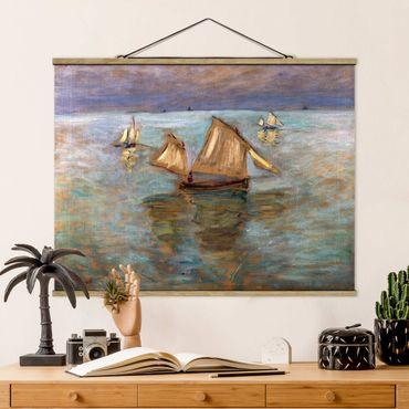 Foto su tessuto da parete con bastone - Claude Monet - Pescherecci - Orizzontale 3:4