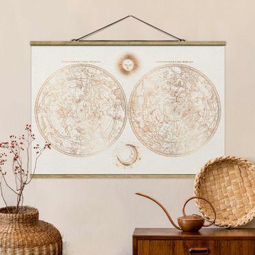 Foto su tessuto da parete con bastone - Antique stella Gold Card Vintage - Orizzontale 2:3