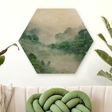 Esagono in legno - Jungle Nella Nebbia