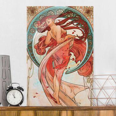 Quadro in vetro - Alfons Mucha - Quattro arti - la danza - Verticale 3:2