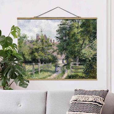 Foto su tessuto da parete con bastone - Camille Pissarro - Saint-Martin - Orizzontale 3:4