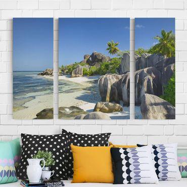 Stampa su tela 3 parti - Dream Beach Seychelles - Trittico