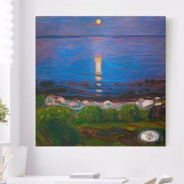 Quadri su tela - Edvard Munch - Summer Night On The Sea Beach
