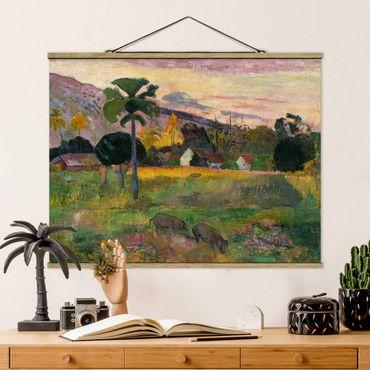 Foto su tessuto da parete con bastone - Paul Gauguin - Come Here - Orizzontale 3:4