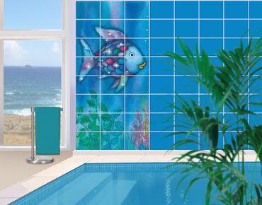 Adesivo per piastrelle - The Rainbow Fish - Alone in the open sea