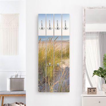 Appendiabiti in legno - Beach Dune Al Mare - Ganci cromati - Verticale