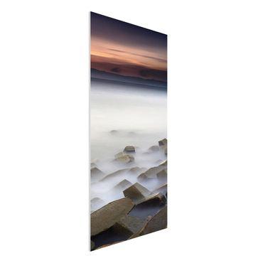 Quadro in forex - Tramonto Nella Nebbia - Verticale 1:2