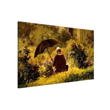 Lavagna magnetica - Carl Spitzweg - Il Pittore In The Garden - Formato orizzontale 3:2