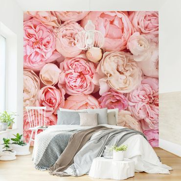 Carta da parati adesiva - Rose Rose Coral Shabby