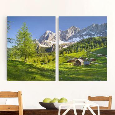 Stampa su tela 2 parti - Styria Alpine Meadow - Verticale 4:3