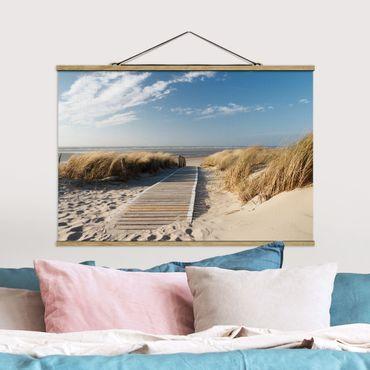 Foto su tessuto da parete con bastone - Spiaggia del Mar Baltico - Orizzontale 2:3