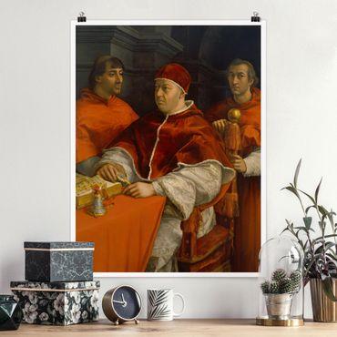 Poster - Raffael - Ritratto di Papa Leone X - Verticale 4:3