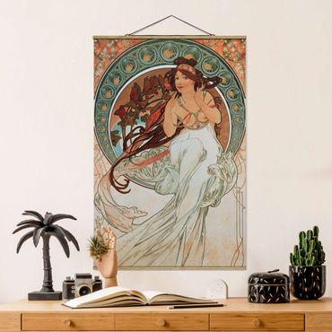 Foto su tessuto da parete con bastone - Alfons Mucha - Quattro arti - Musica - Verticale 3:2