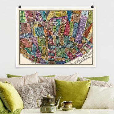 Poster - Mappa Moderna di St. Louis - Orizzontale 3:4