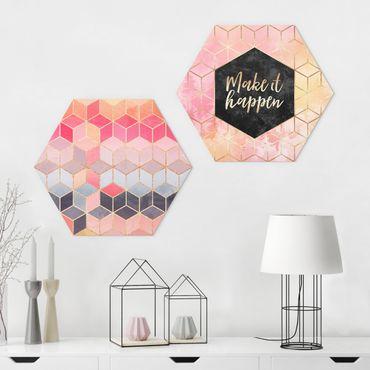 Esagono in forex - Elisabeth Fredriksson - Make It Happen Geometria Set Rosa