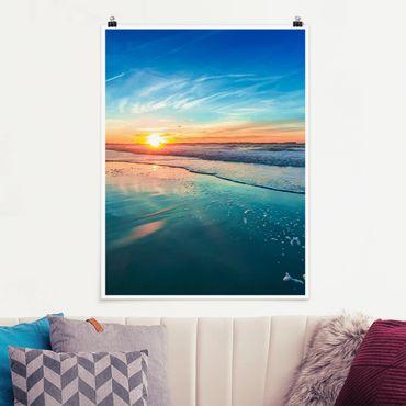 Poster - Romantico tramonto sul mare - Verticale 4:3