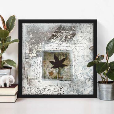 Poster con cornice - Silvery Memories - Quadrato 1:1