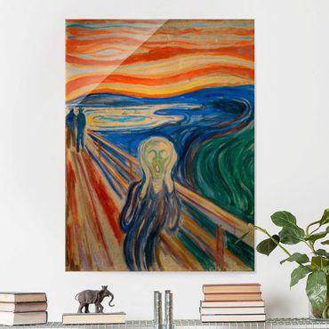 Quadro in vetro - Edvard Munch - L'urlo - Verticale 4:3