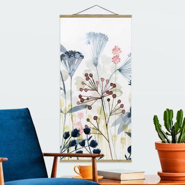 Foto su tessuto da parete con bastone - Wildflower Acquerello I - Verticale 2:1