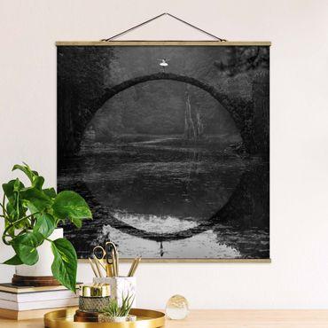 Foto su tessuto da parete con bastone - ballerino - Quadrato 1:1