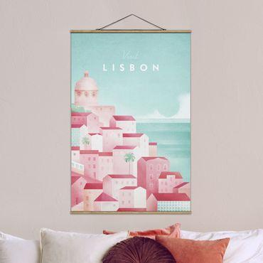 Foto su tessuto da parete con bastone - Poster viaggio - Lisbona - Verticale 3:2