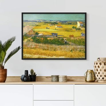 Poster con cornice - Vincent Van Gogh - Harvest - Orizzontale 3:4