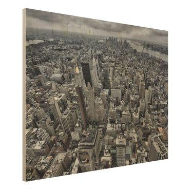 Quadro in legno - View Over Manhattan - Orizzontale 4:3