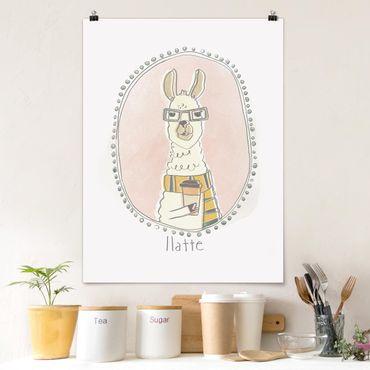 Poster - caffeina Lama - Verticale 4:3