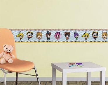Adesivo murale bordura no.BP6 Sweet Chibi