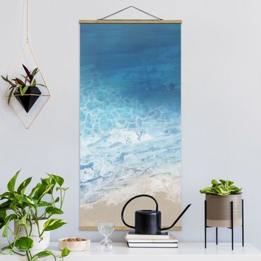 Quadro su tessuto con stecche per poster - Tides In Color I - Verticale 2:1