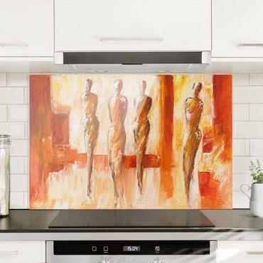 Paraschizzi in vetro - Petra Schüßler - Four Figures In Orange